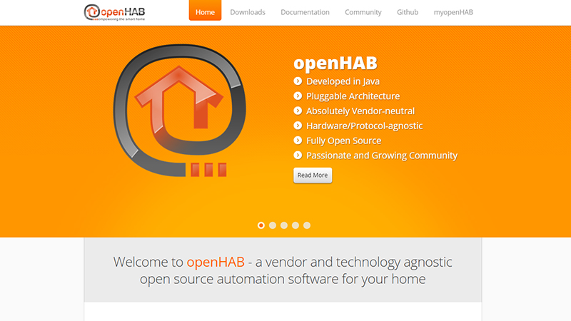 OpenHab open source home automation