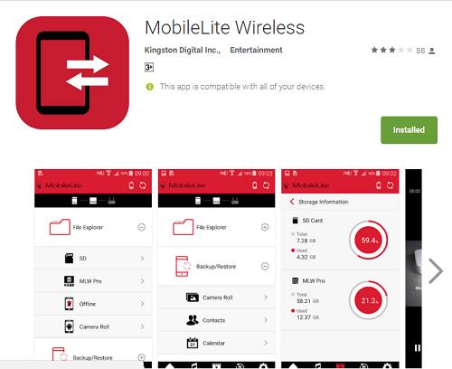 kingston mobilelite app