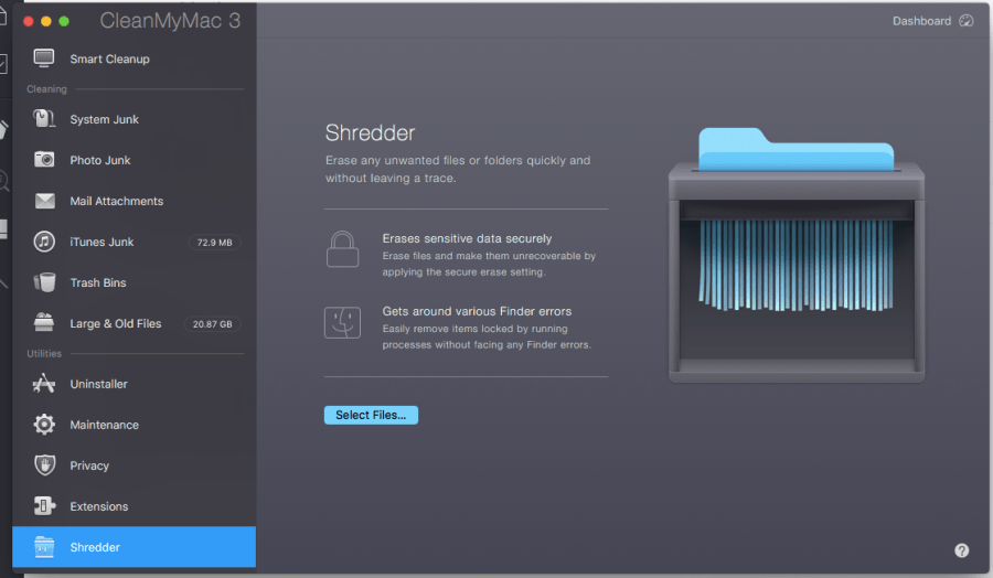 Shredder - Permanently Delete Files Mac