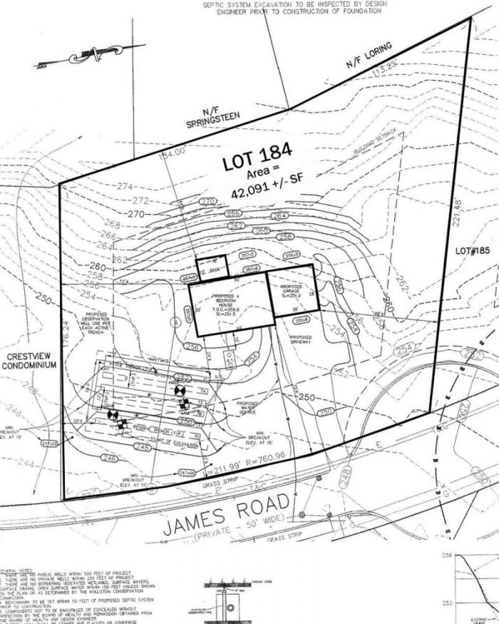 Sample plot plans showing the area around a construction site