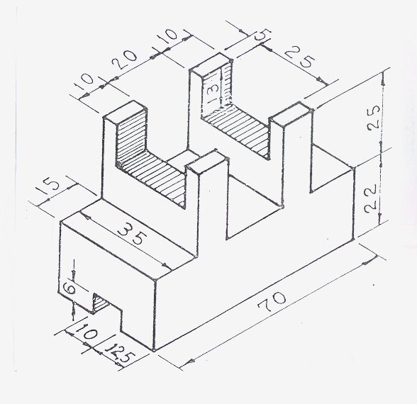 sample of an isometric drawing, commonly found in most construction blueprints