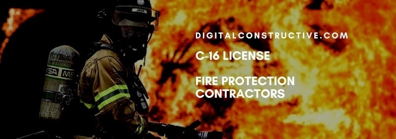 Featured image for a blog post about how to get the C-16 license for fire protection contractors