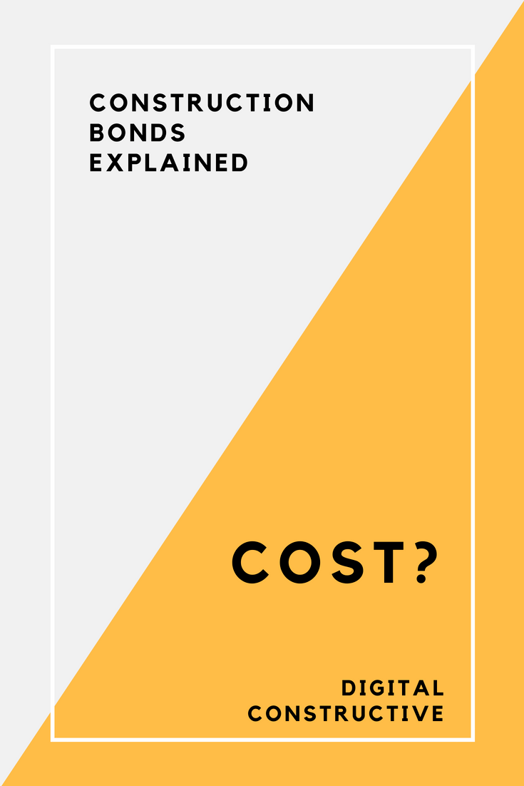 Graphic design called surety bond cost for article about the construction bond