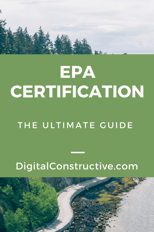 EPA Certifications cover a wide range of areas