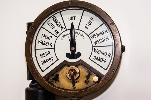 A pressure clock commonly used by boiler contractors