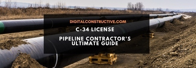 Featured image for a blog post about the C34 license for pipeline contractors