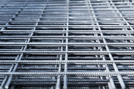 a fabric of steel rebar