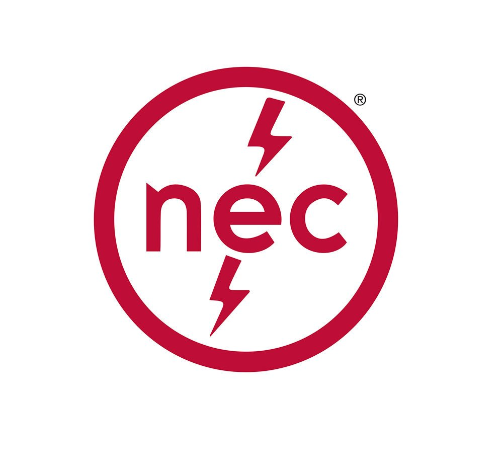 Logo of the National Electrical Code. the electrical certification exam is based on NEC codes