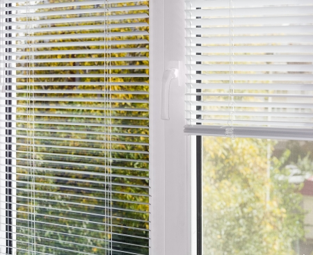 Residential window blinds. Window contractors typically work in residential and commercial settings