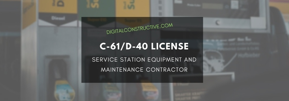 featured image for a blog post about how to get a service station equipment contractor license