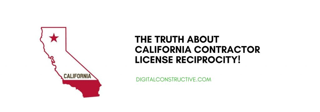 featured image has a picture of california. Blog post about how contractors from other states can get licensed in california and the truth about california contractor license reciprocity