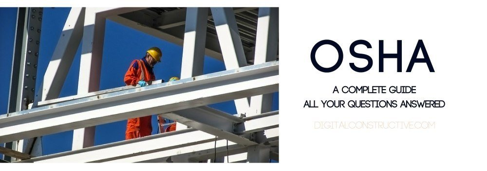 featured image for a blog post about the occupational safety hazard association. image features two construction workers up high on a steel beam. parking and highway improvement contractors looking to get the C-32 license should complete some level of OSHA training