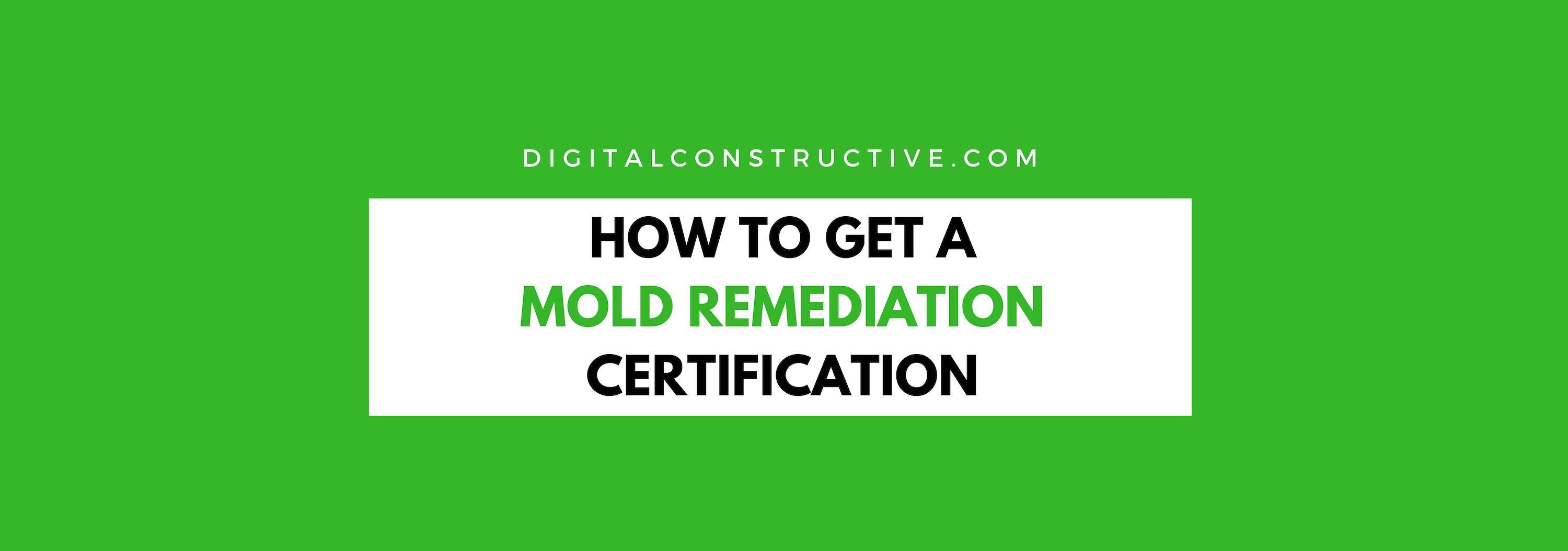featured image for a blog post about the mold certification
