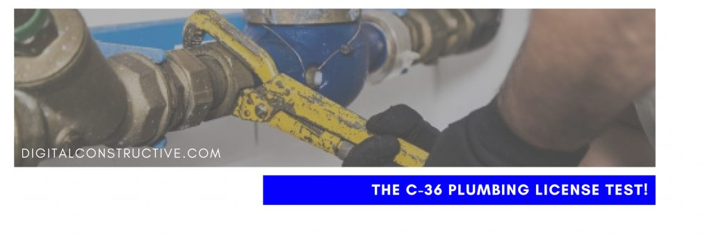 featured image for a blog post about what you need to know to pass the C-36 plumbing test