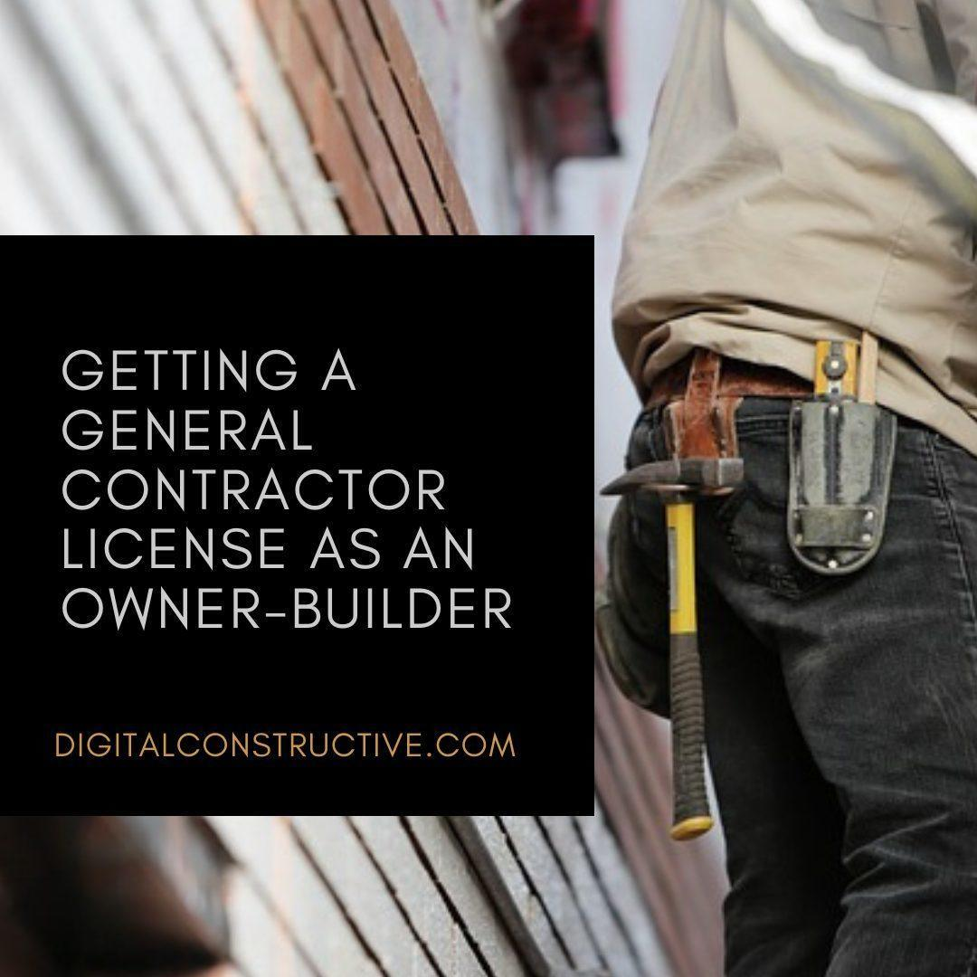 image of a contractor wearing a tool belt. blog post explains how to get the california general contractor license as an owner builder