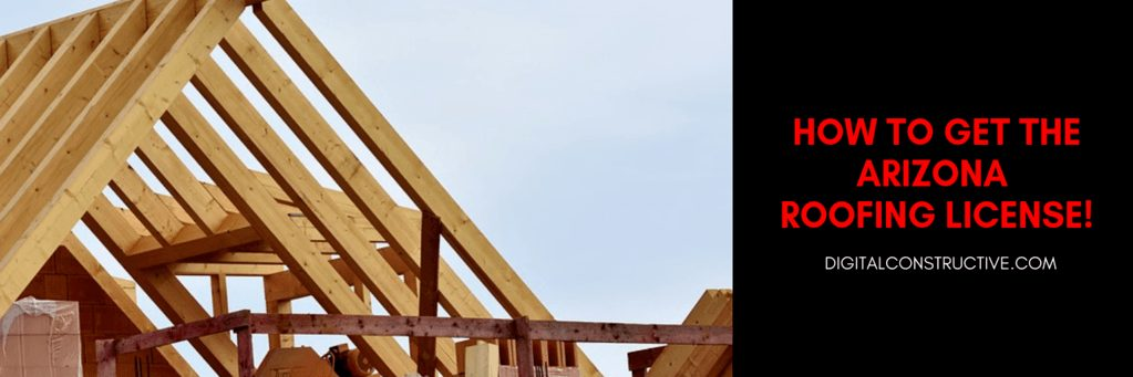 image of a house in the framing process, guide breaks down how to get the arizona roofing license