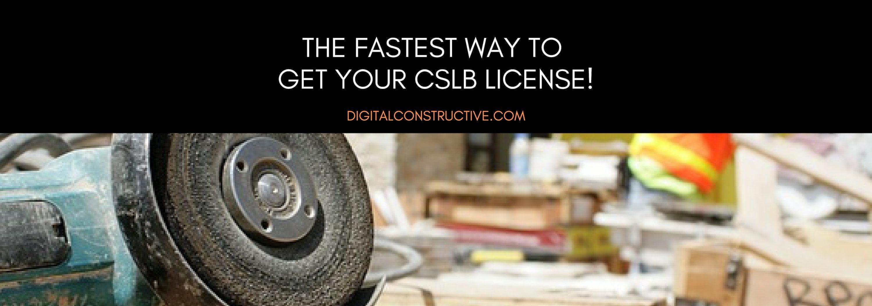 image shows tools and then a contractor in the background, proven strategies to get your CSLB license fast!