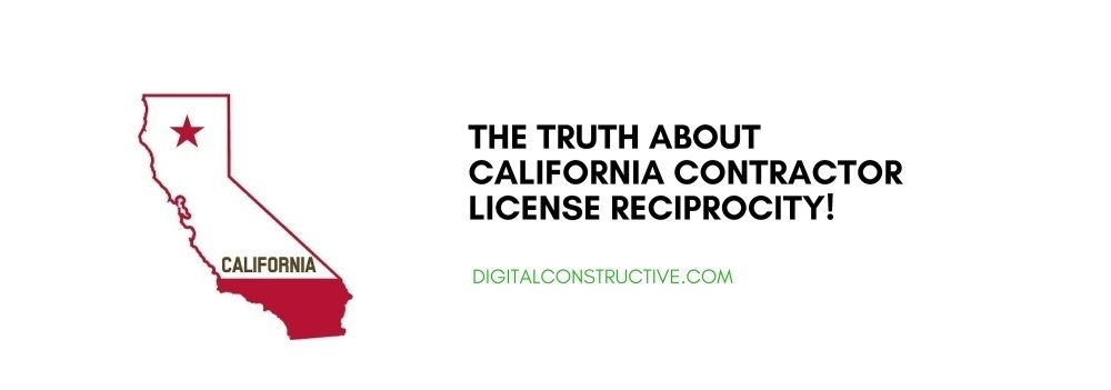 image of california and a blog titled the truth about california contractor license reciprocity with arizona