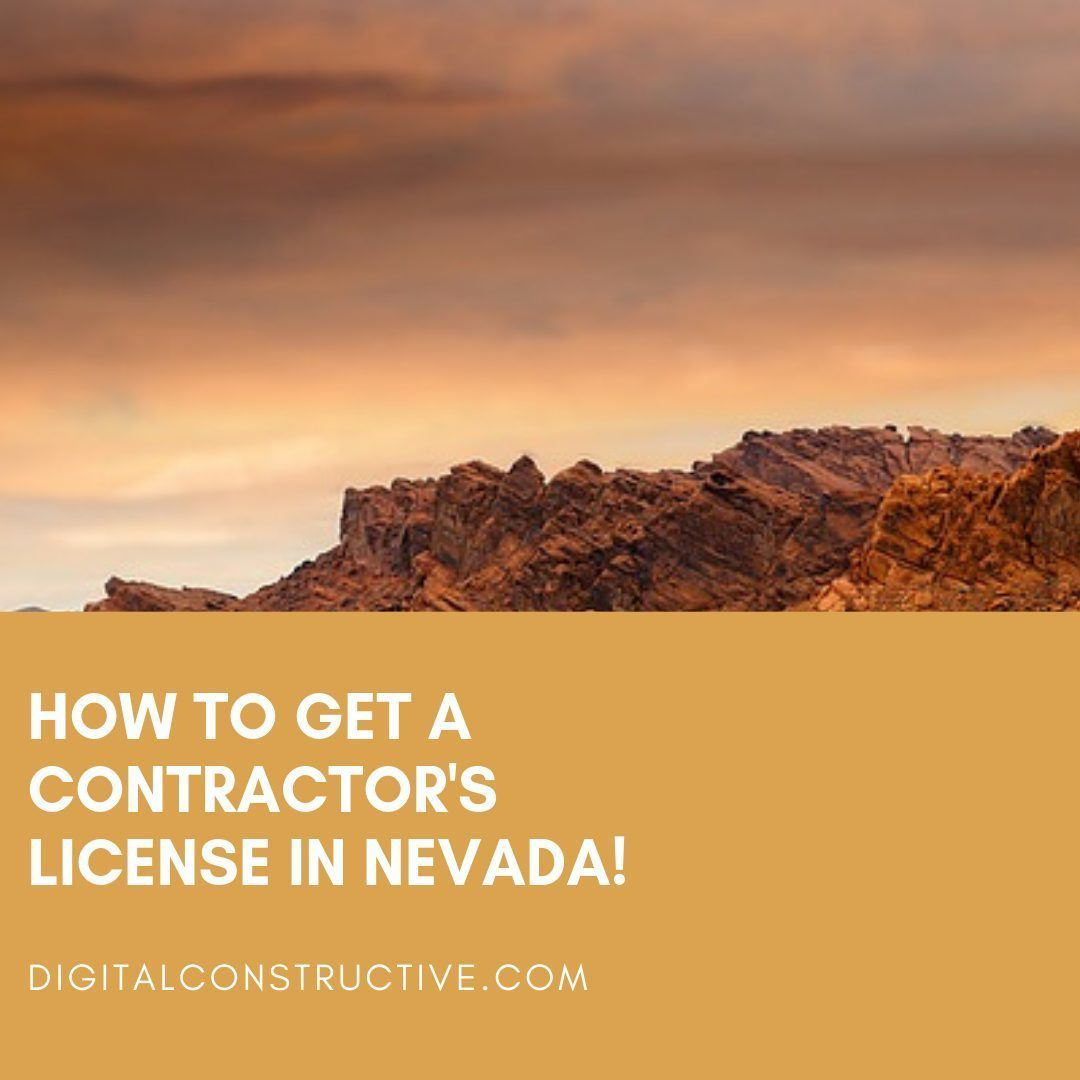 image shows a sunset with red rocks infront. blog post explains how to get the nevada contractor license