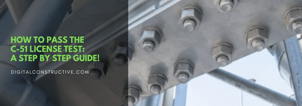 a steel beam with several large bolts. step by step guide breaks down everything you need to know to pass the C-51 license test