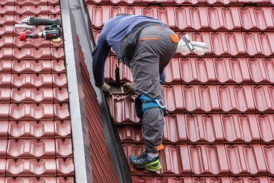 Roofer repair the roof of clay tiles. getting a nevada contractor license requires that you have atleast 4 years of journeyman level experience
