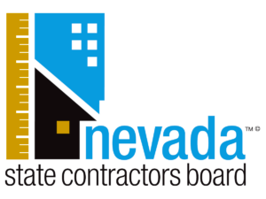 logo of the nevada state contractors board. the governing body for plumbing contractors in nevada