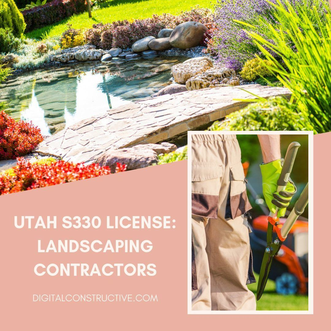 images of a landscaper hold sheers. Complete guide to the S330 license for landscaping contractors in California