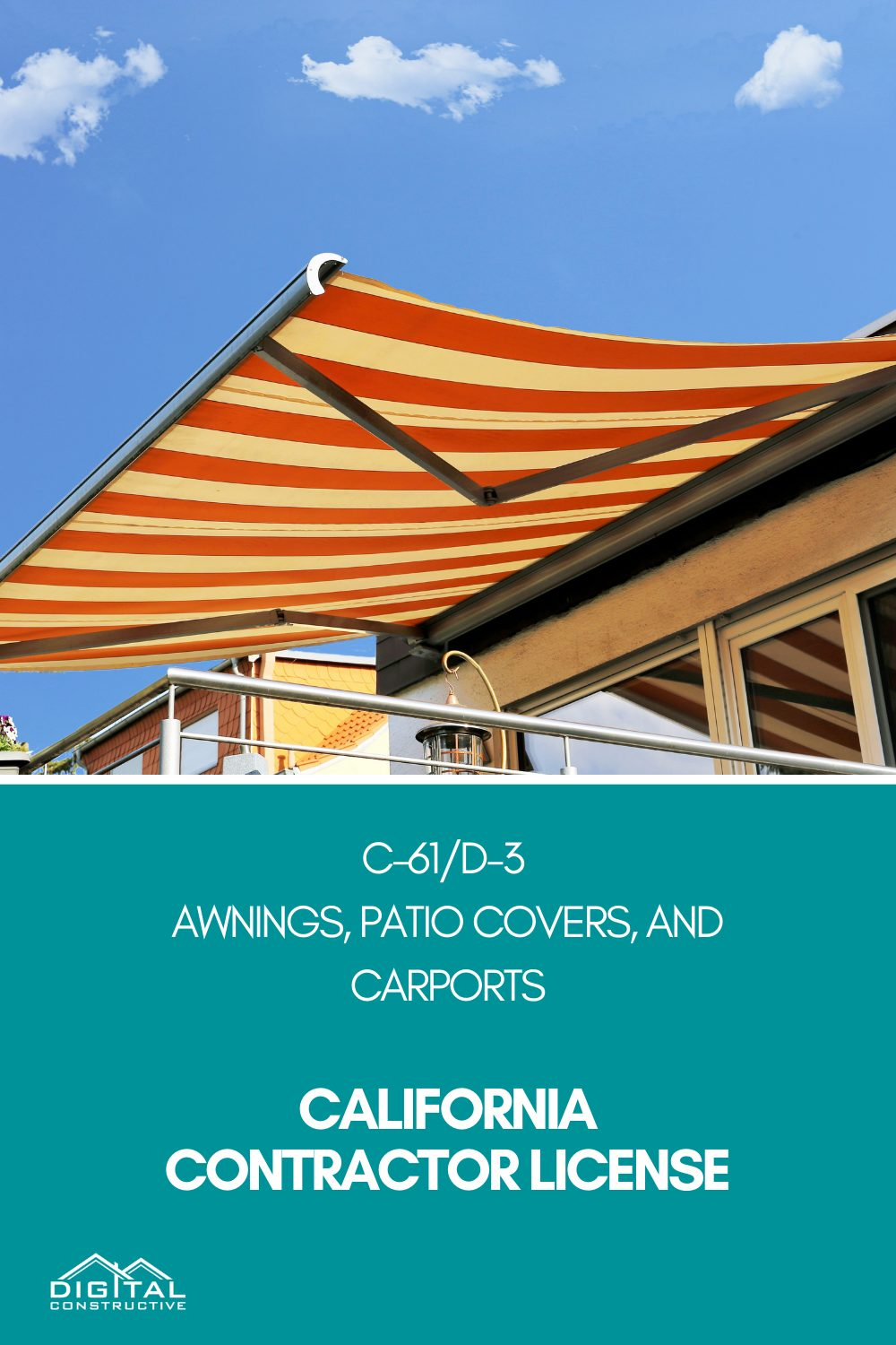 what can you do with a california awnings contractor license
