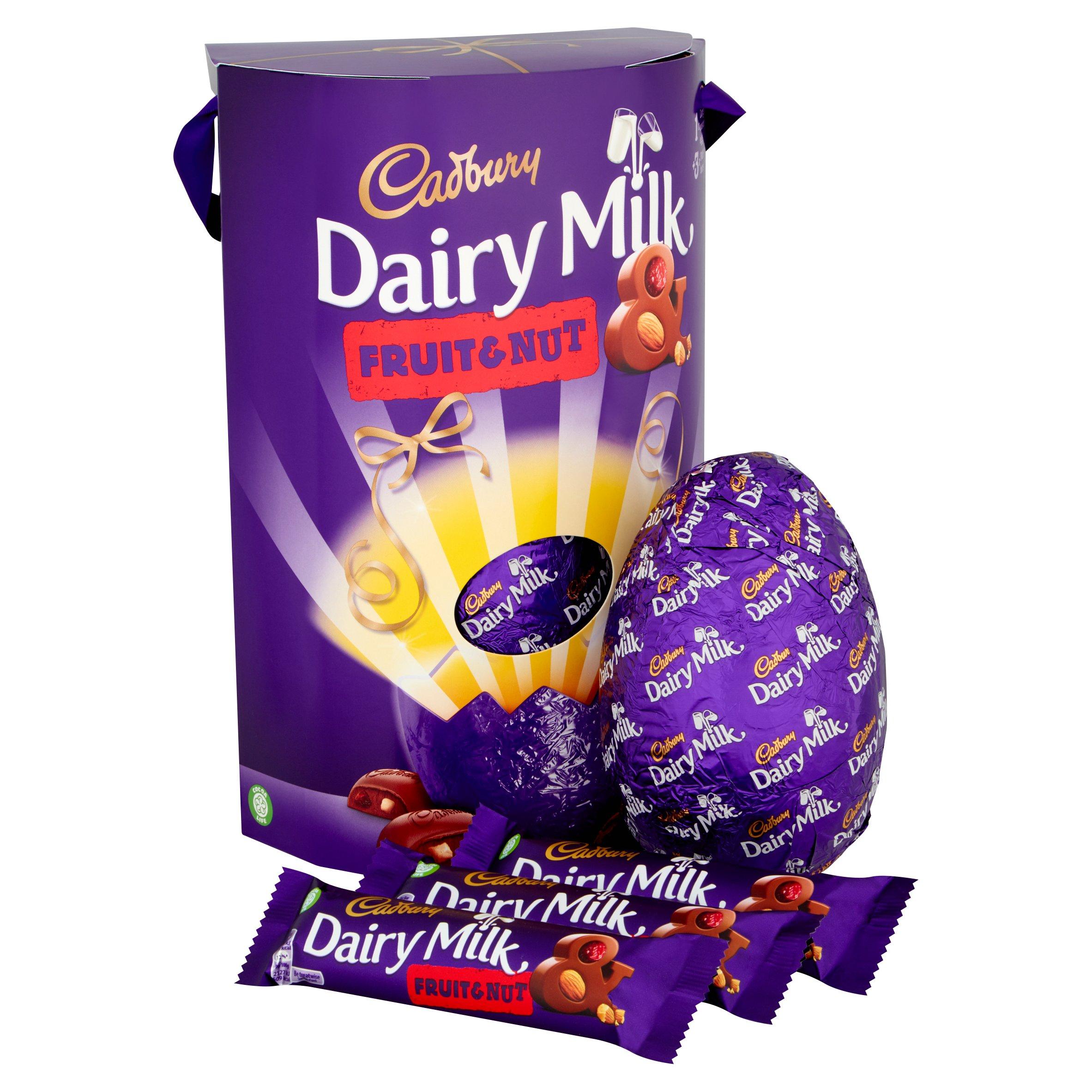 image 2 of Cadbury Dairy Milk Fruit & Nut Easter Egg 302G