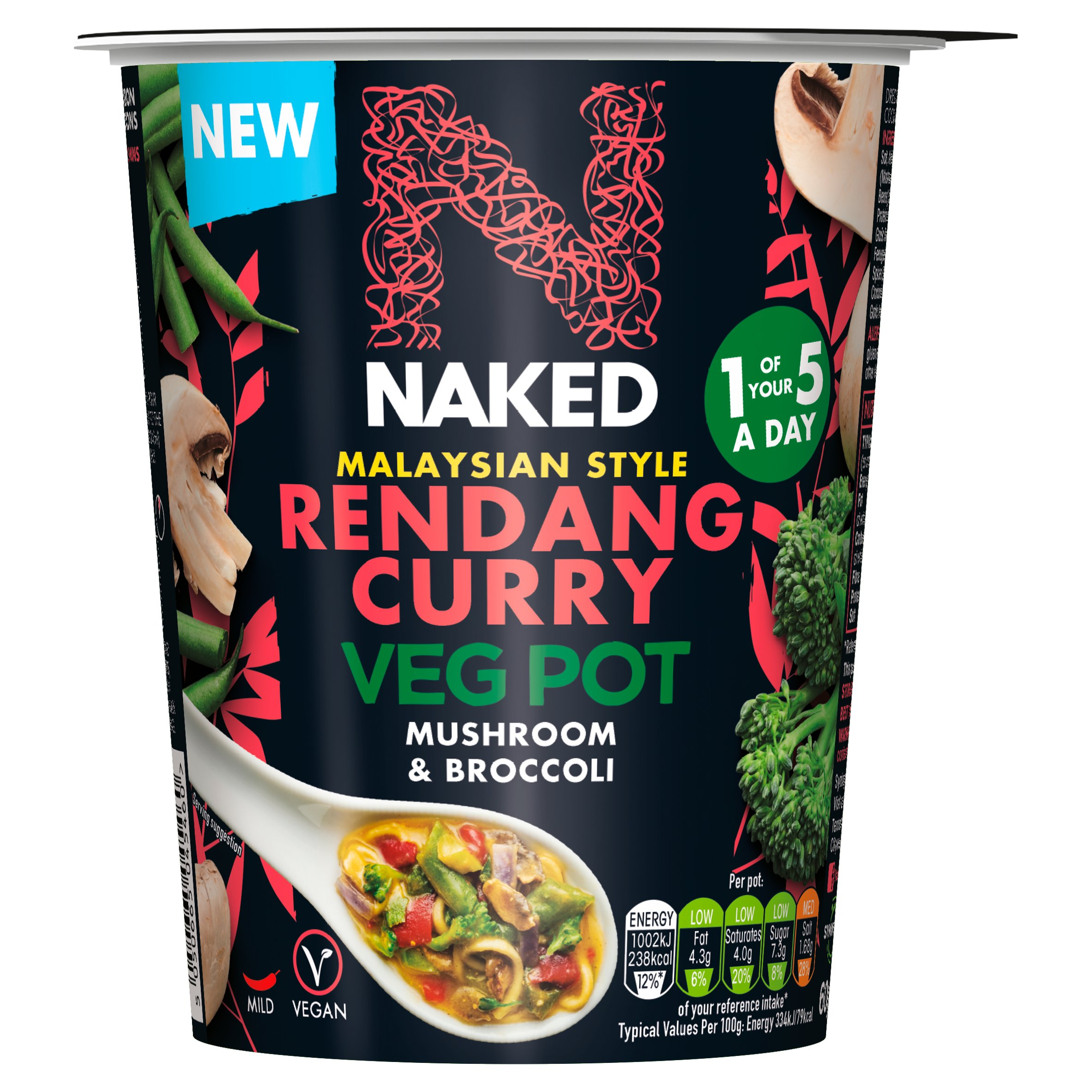 Naked Malaysian Rendang Curry Vegetable Pot 60G - Tesco Groceries