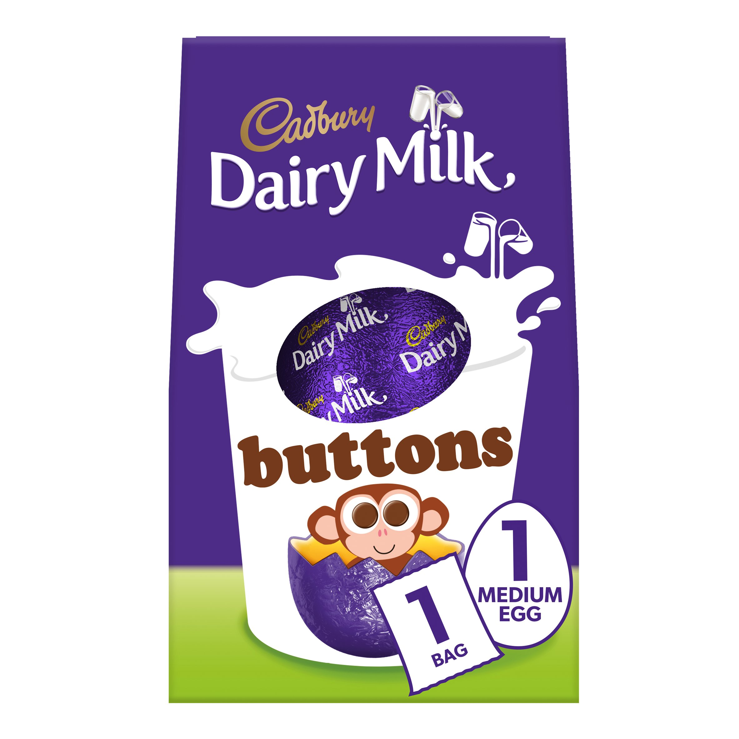 image 1 of Cadbury Dairy Milk Buttons Medium Easter Egg 128G