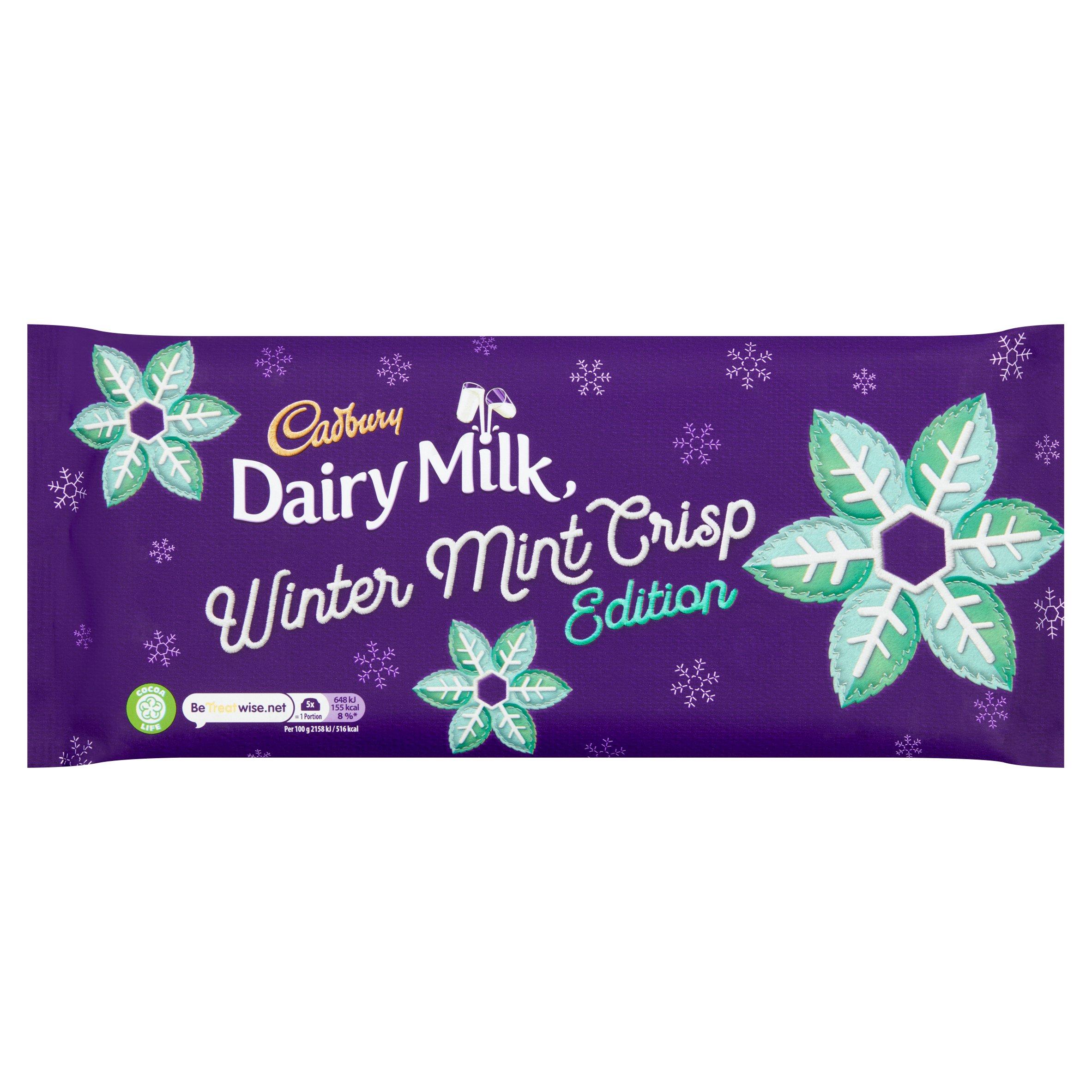 Cadbury Dairy Milk Winter Mint Crisp 360G