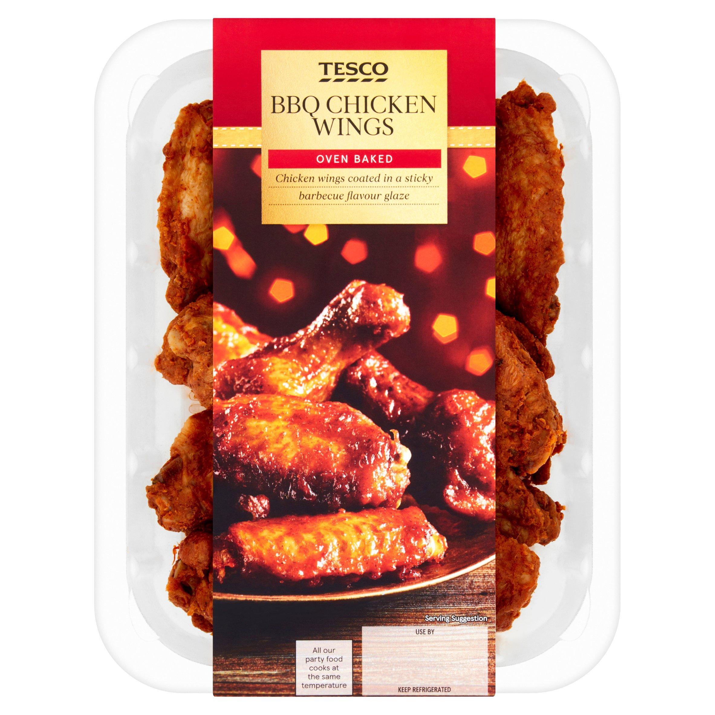 Tesco Sticky Bbq Chicken Wings 300G