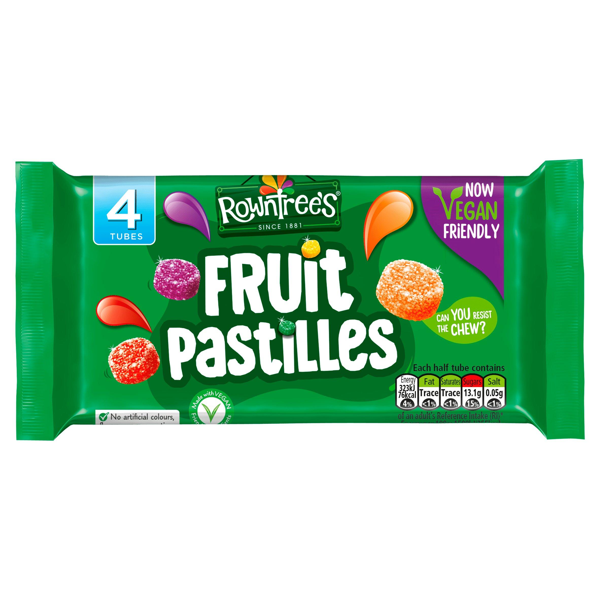 Rowntrees Vegan Fruit Pastilles 4X42.8G