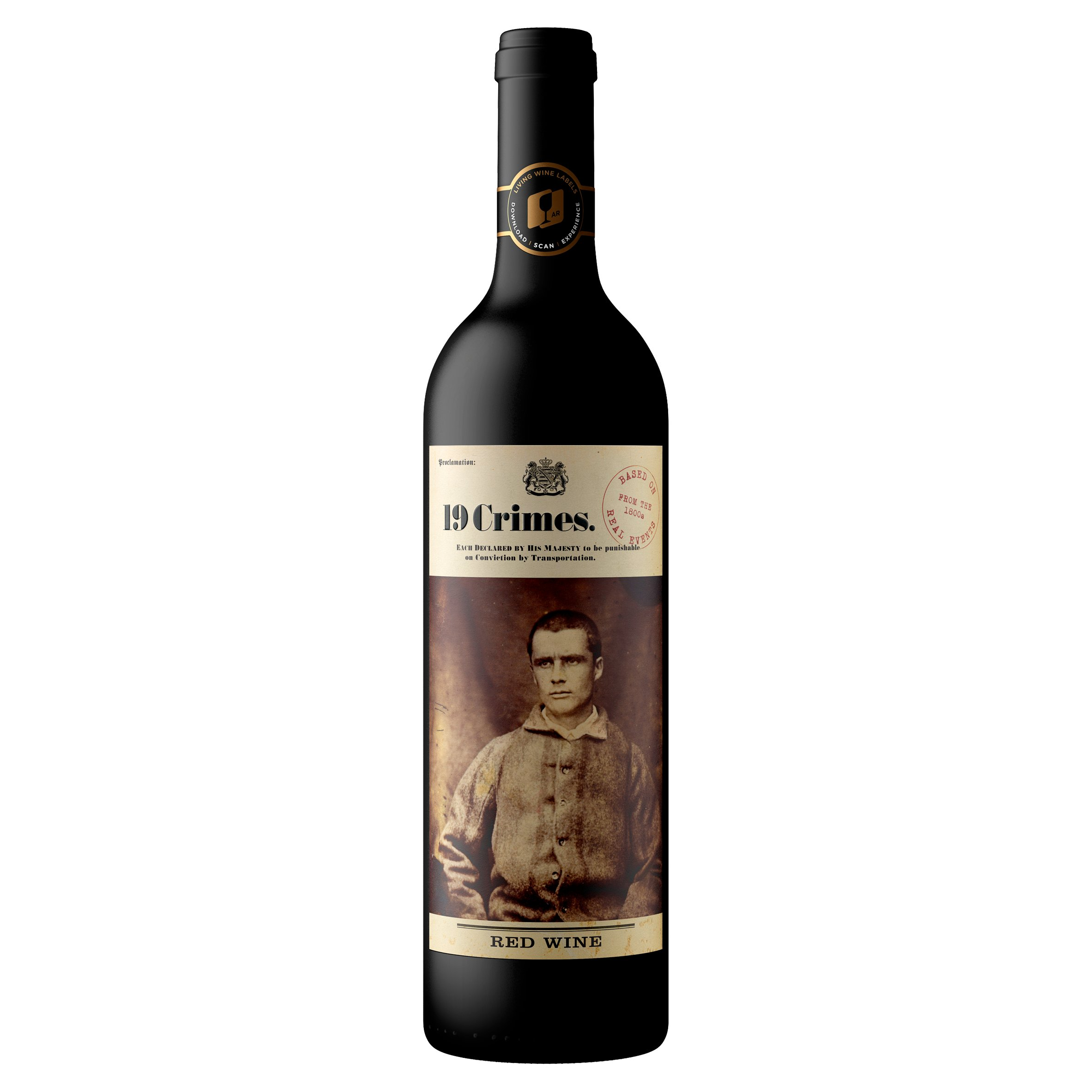 19 Crimes Red Wine 75cl Tesco Groceries
