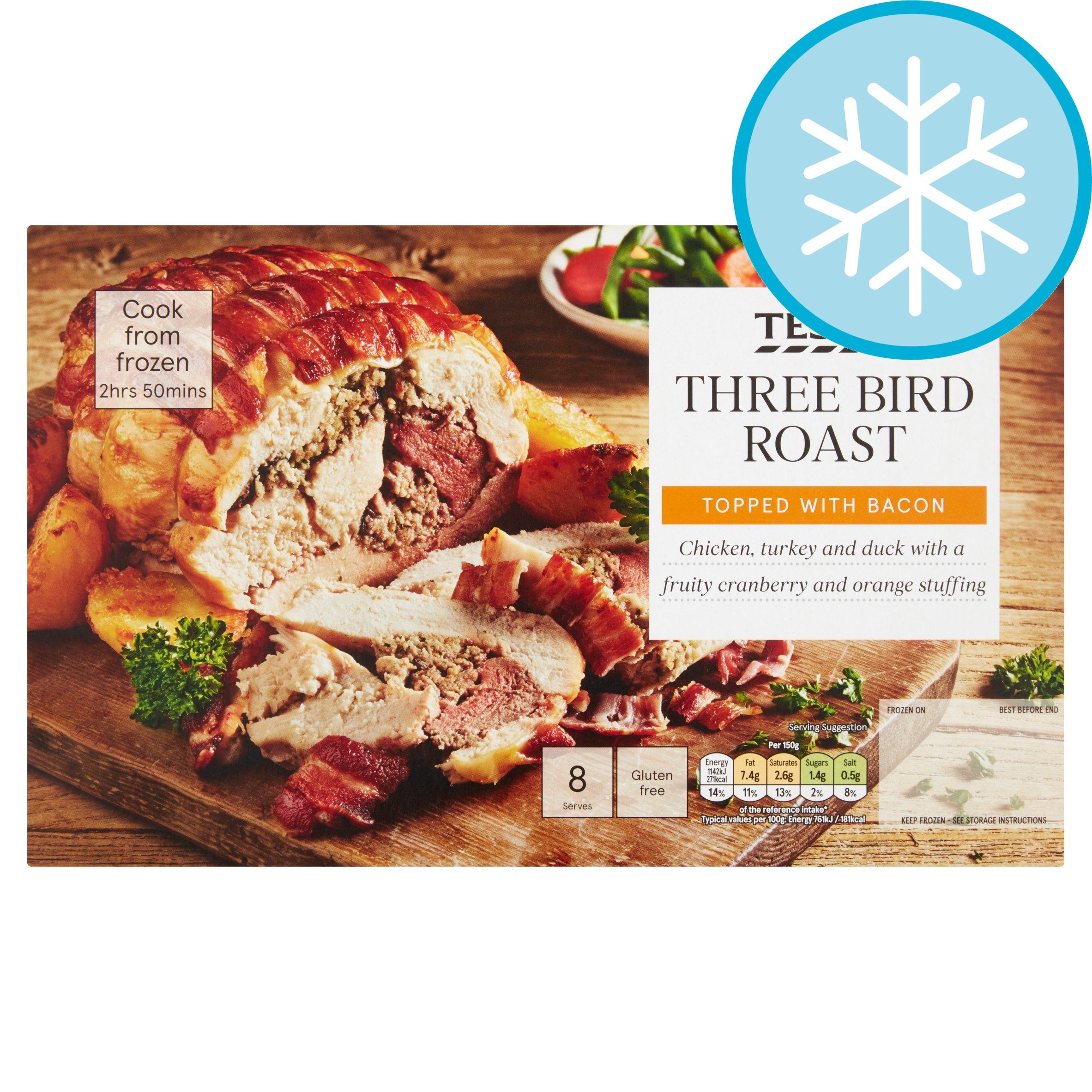 Tesco Frozen Three Bird Roast 1.38Kg
