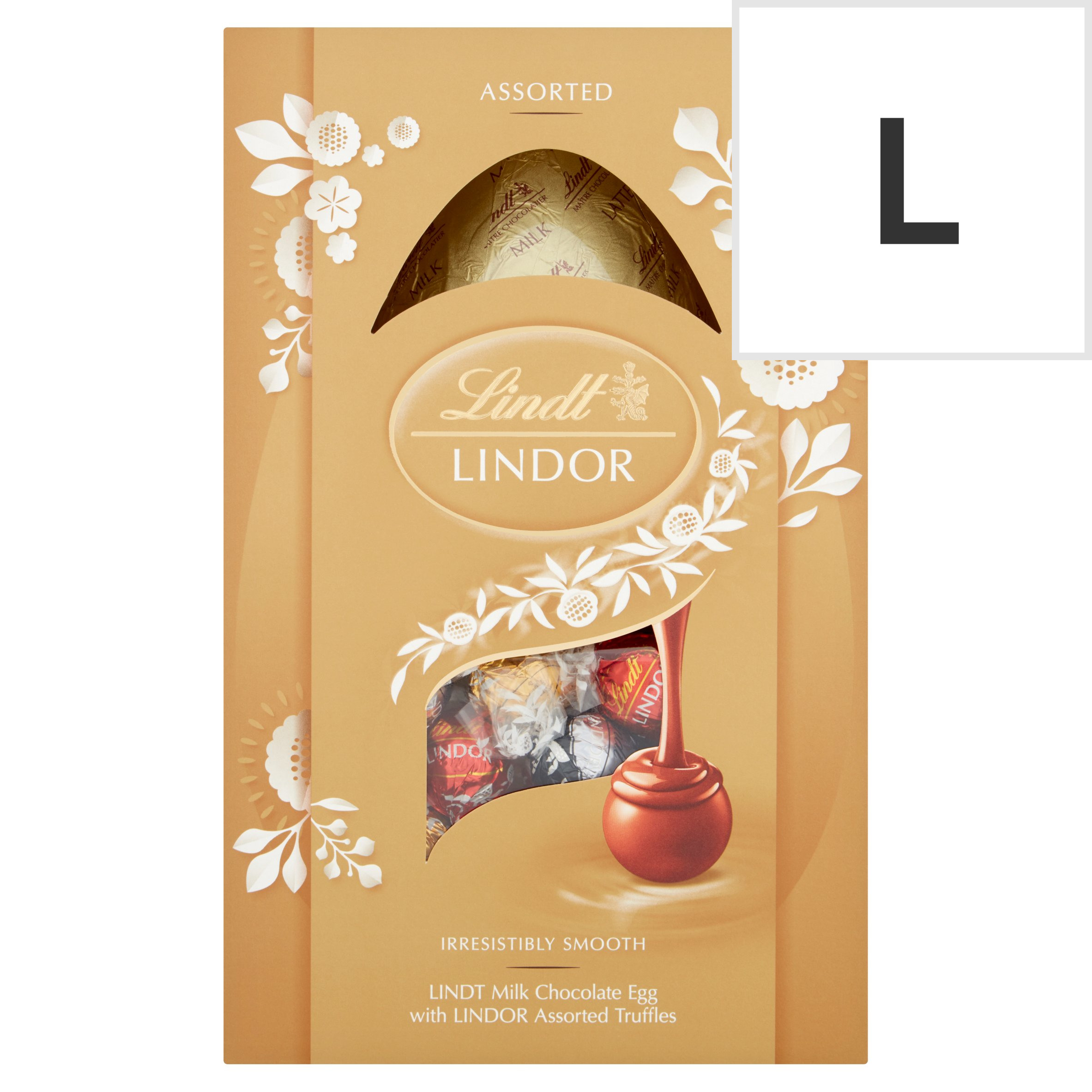 image 1 of Lindt Milk Chocolate Egg With Lindor Assorted Truffles 260G