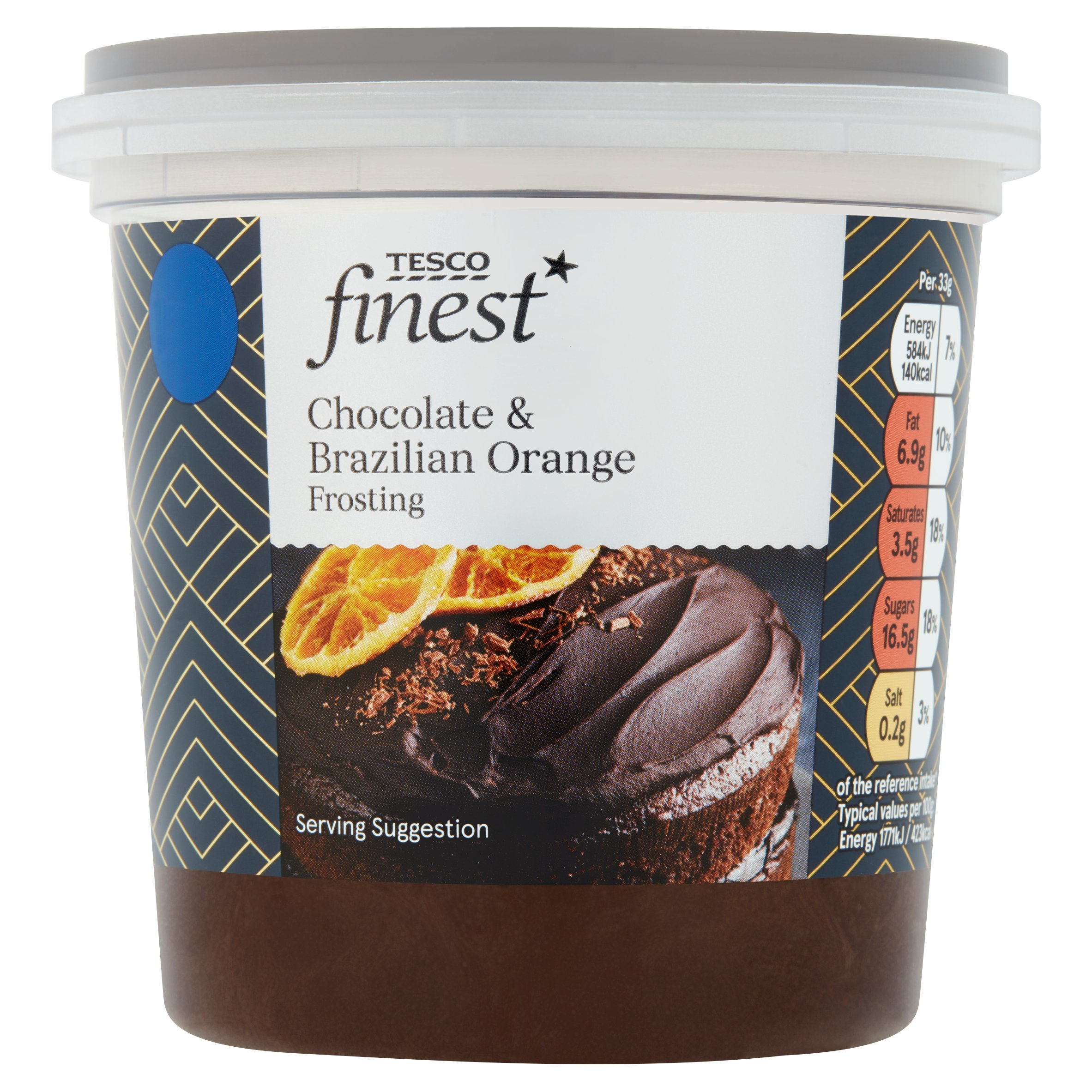 Tesco Finest Chocolate & Brazilian Orange Frosting 400G