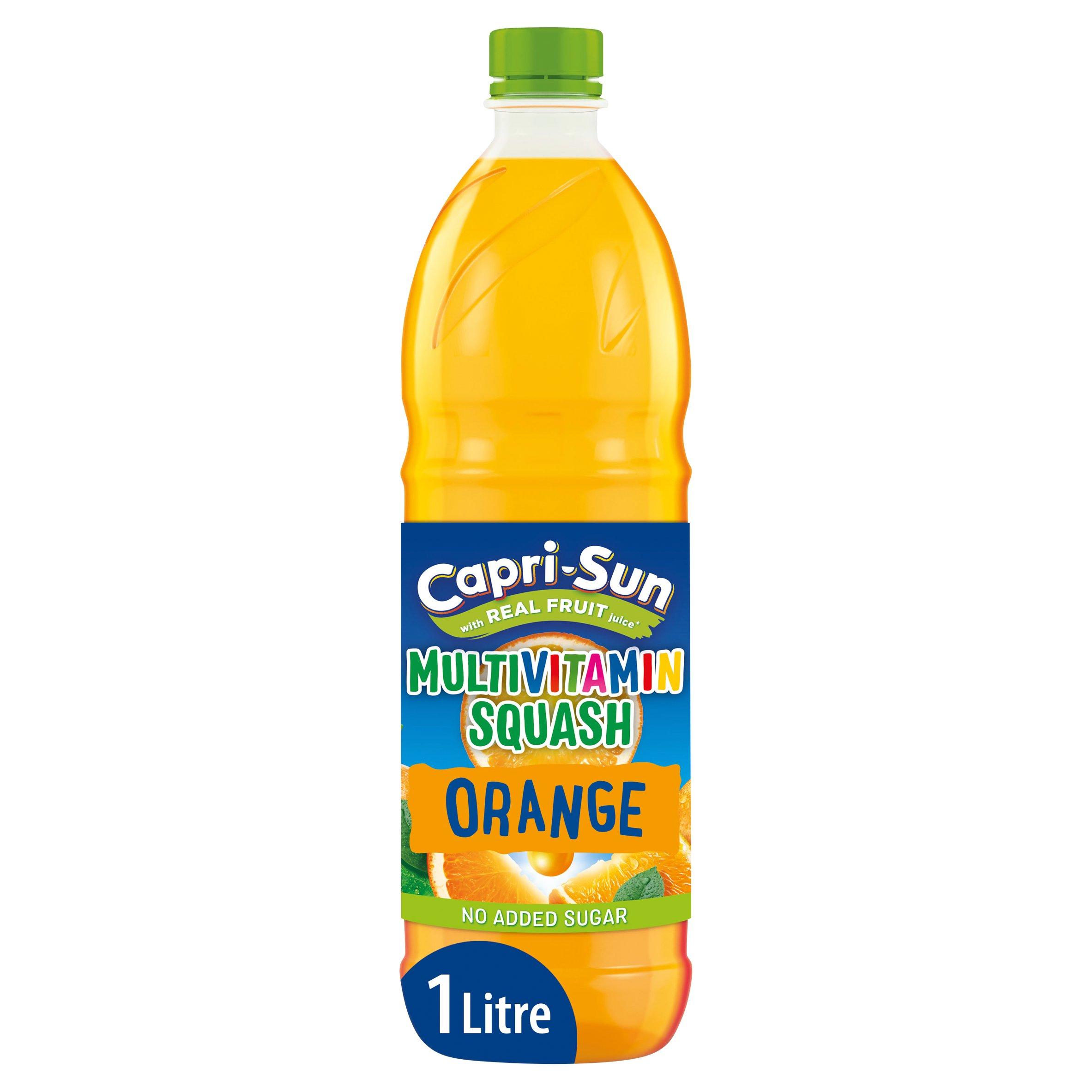 image 1 of Capri Sun No Added Sugar Multivitamin Squash Orange 1 Litre