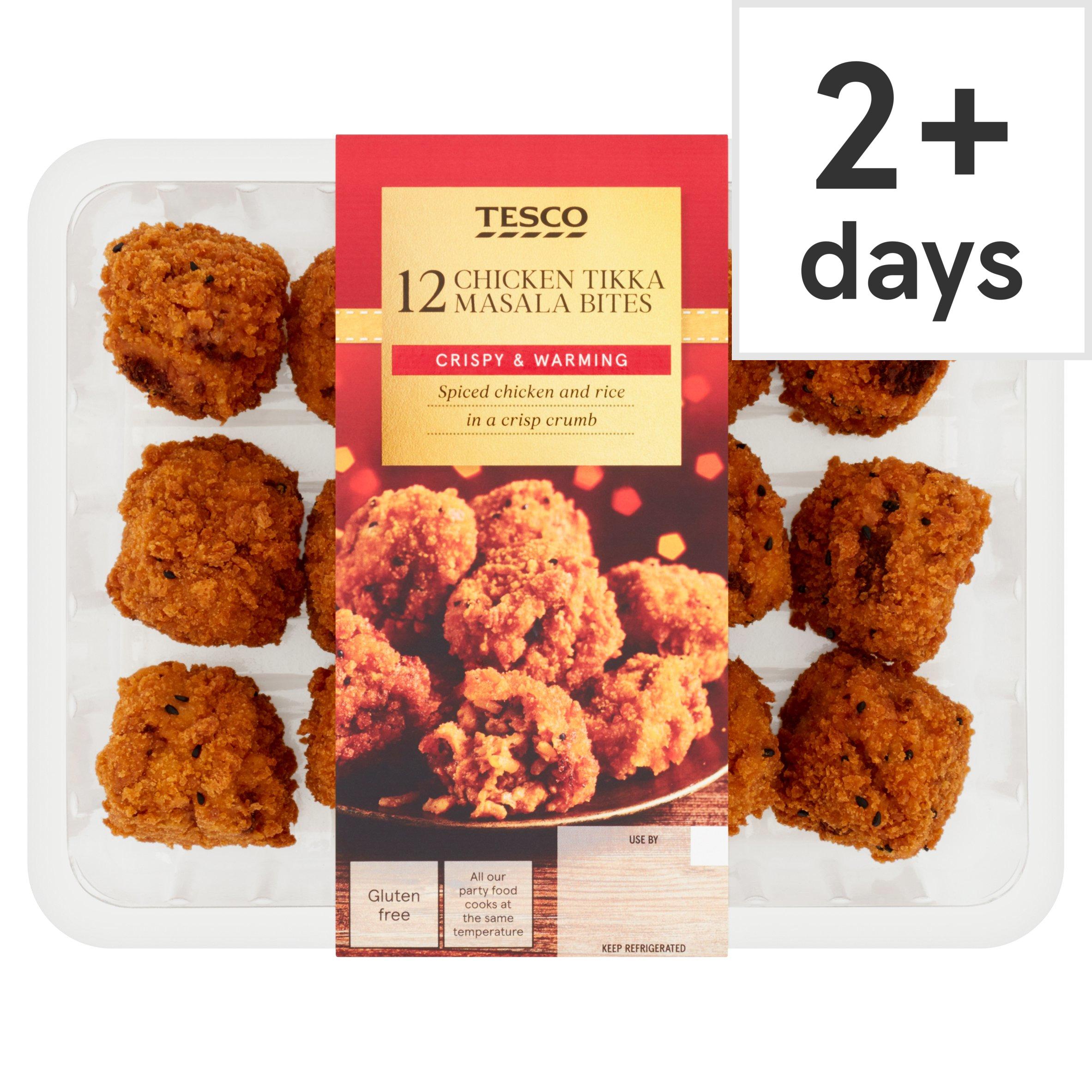 Tesco 12 Chicken Tikka Bites 300G