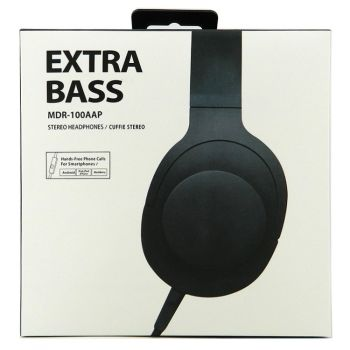 Headphone extra bass mdr-100aap μαυρο