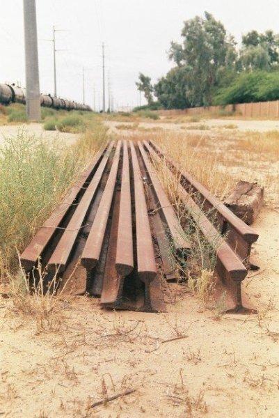 Unused Railroad Tracks in the Train Depot