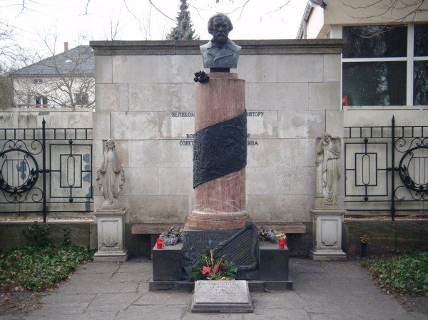 The Michail Glinka Memorial at the Russian Orthodox Cemetery in Berlin, Germany