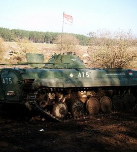 A Parked BMP 1 Tank in Brandenburg, Germany