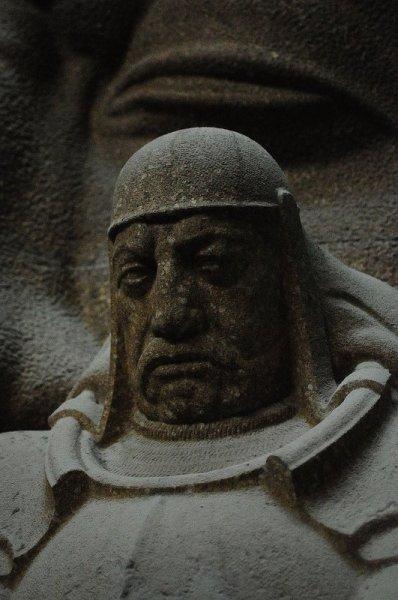 Stone Warrior inside the Völkerschlachtdenkmal