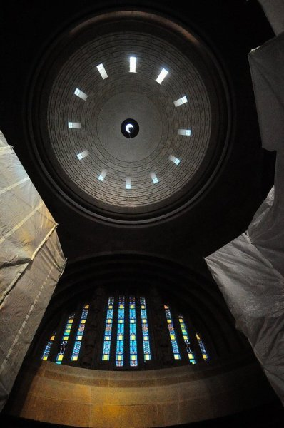 Interior of the dome seen from the crypt