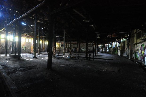 inside the engine shed