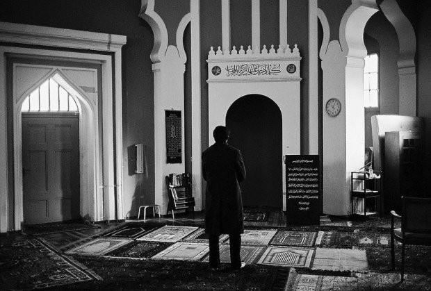praying at the mosque