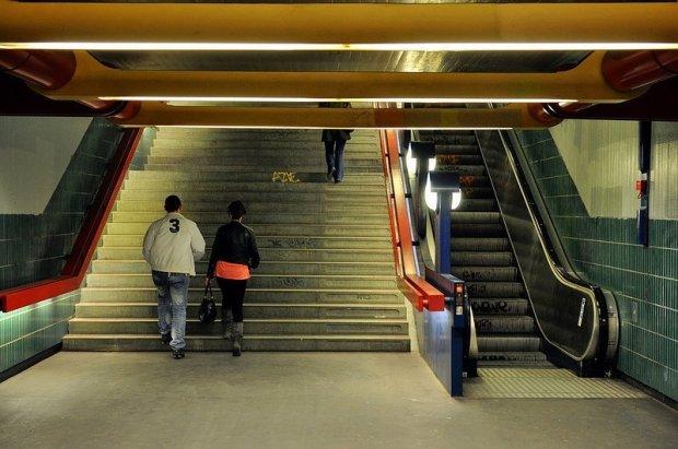 staircase Schloßstraße ubahn station berlin ubahn berlin