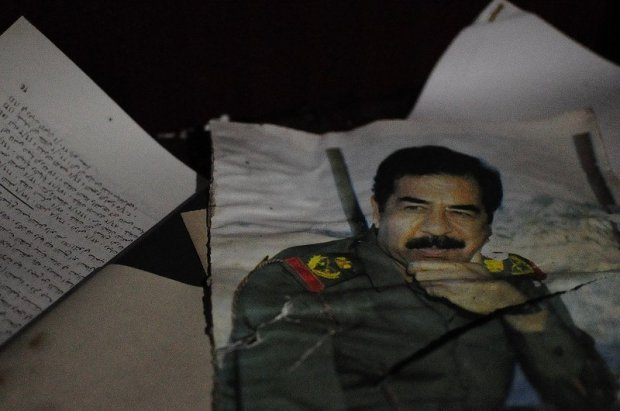 Saddam Hussein photo magazine